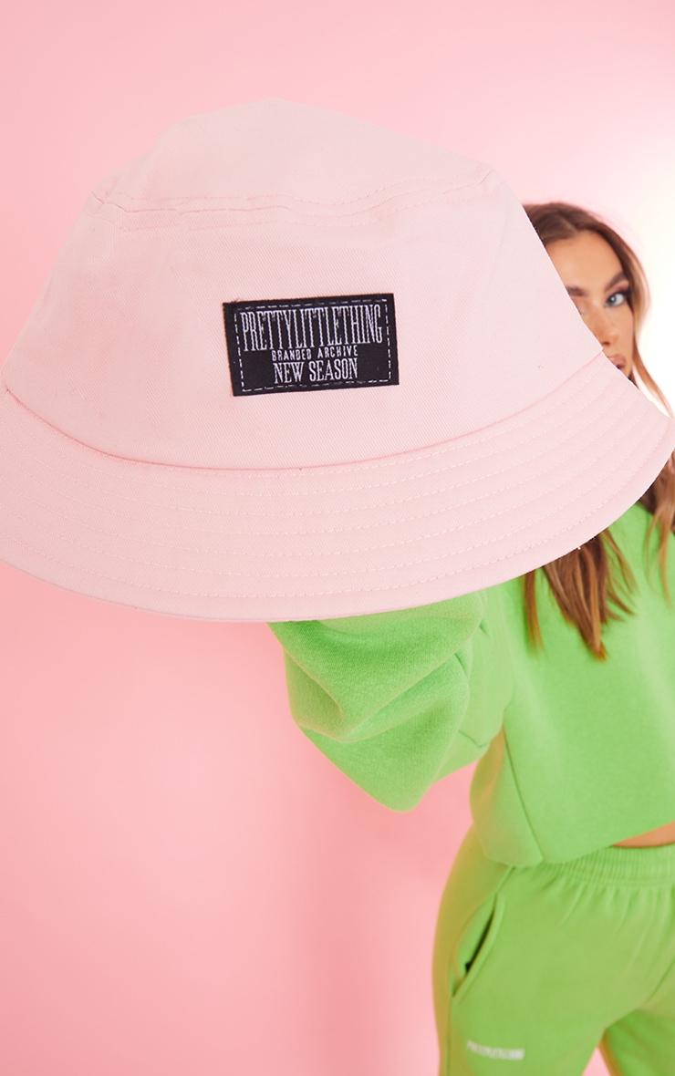 PRETTYLITTLETHING Pink Tab Bucket Hat 2