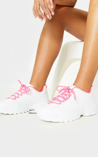 0cf1d0e0bdc Neon Pink Chunky Trainer
