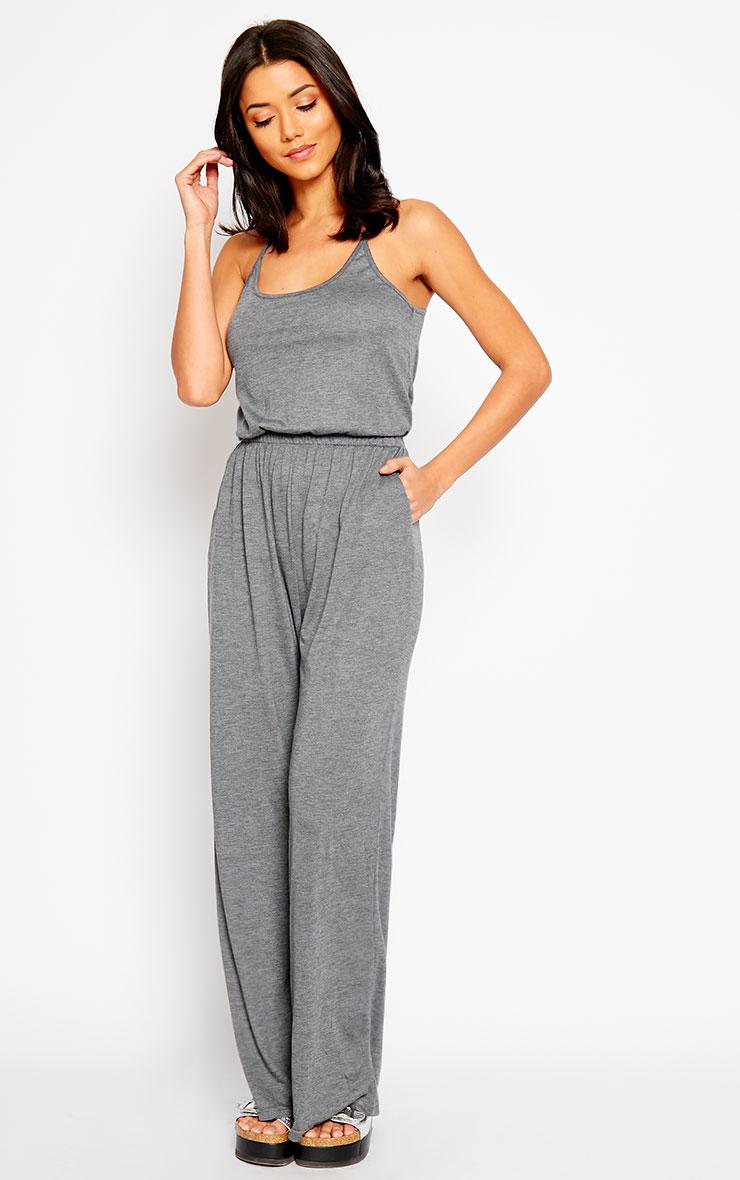 Esme Charcoal Jersey Wide Leg Jumpsuit 4