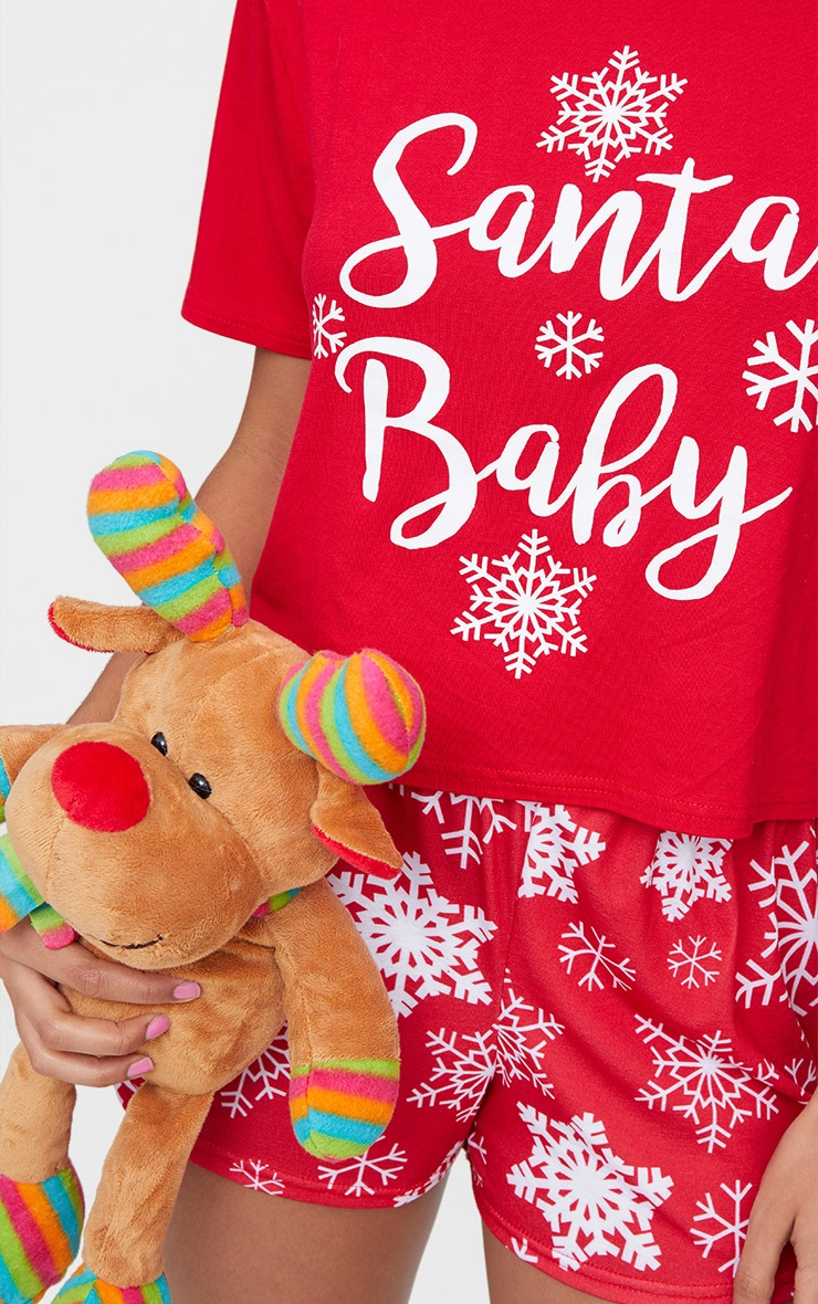 Red Santa Baby Short Pyjama Set  3
