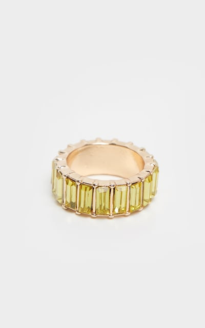 Pastel Yellow Eternity Band Ring