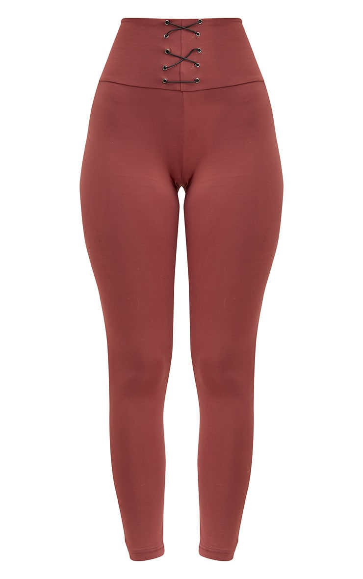 Rose Corset Detail Leggings 3