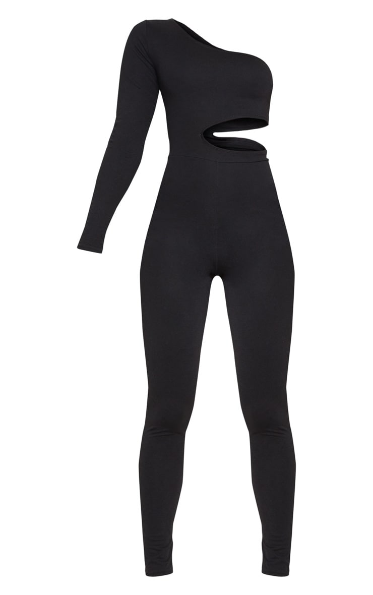Black Long Sleeve Cut Out Jumpsuit 3