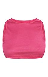 RENEW Pink Rib Racer Crop Top 5