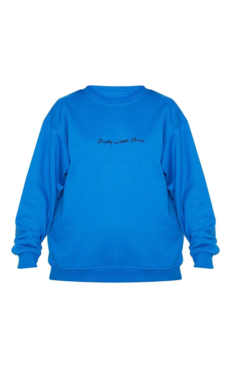 PRETTYLITTLETHING Recycled Cobalt Oversized Sweatshirt 5