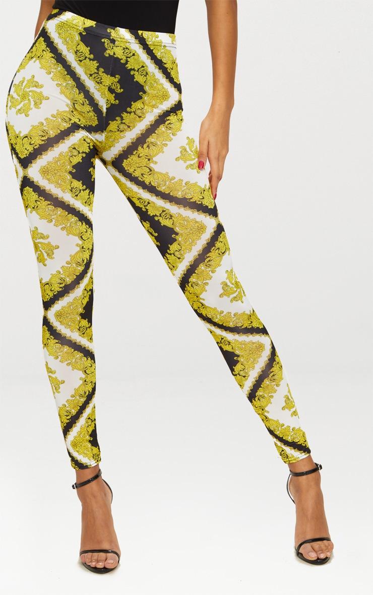 Gold Slinky Chain Print Legging 2