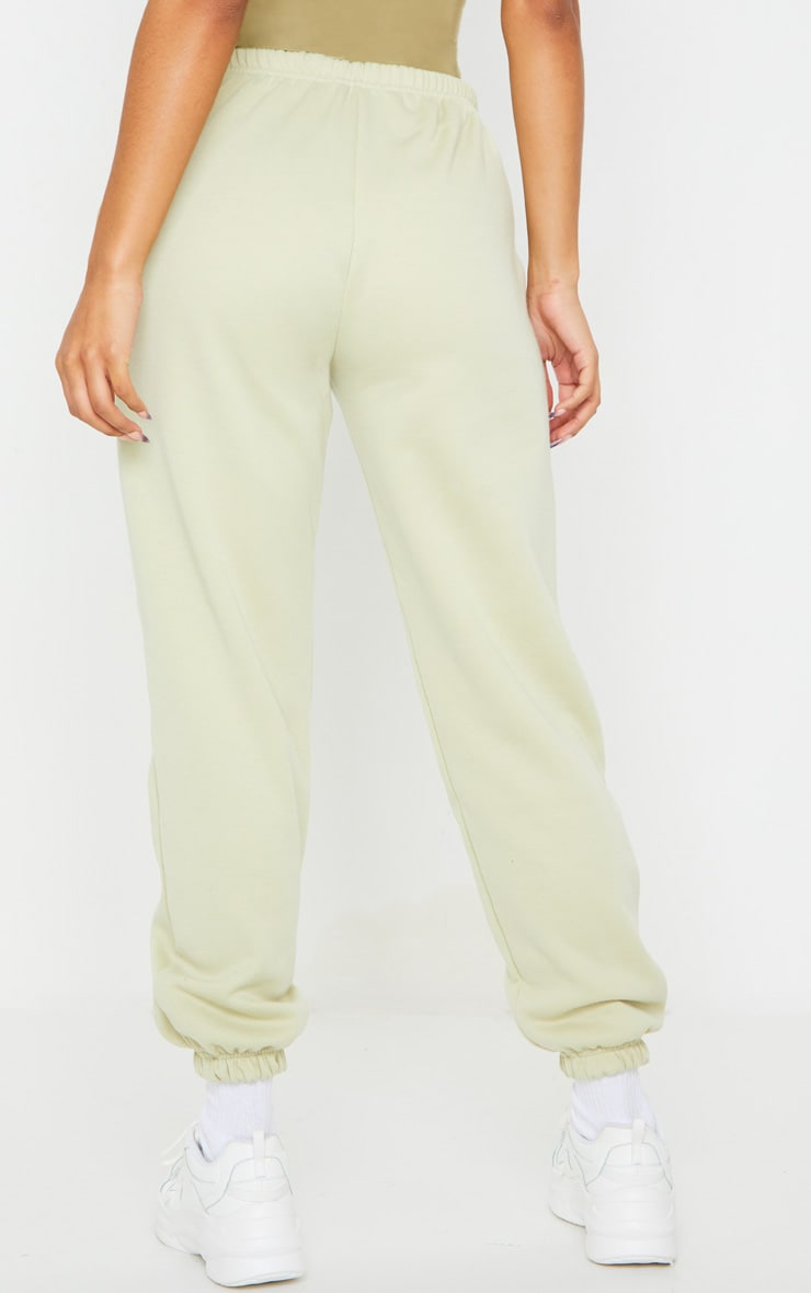 Pale Olive Casual Track Pants 3
