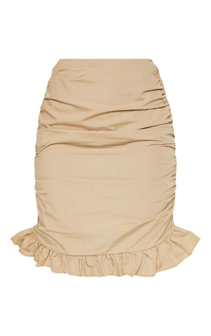 Stone Ruched Detail Frill Hem Skirt 3
