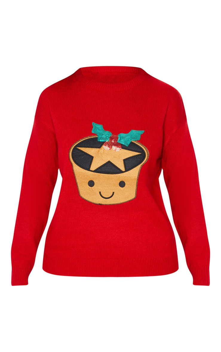Red Mince Pie Christmas Jumper 3