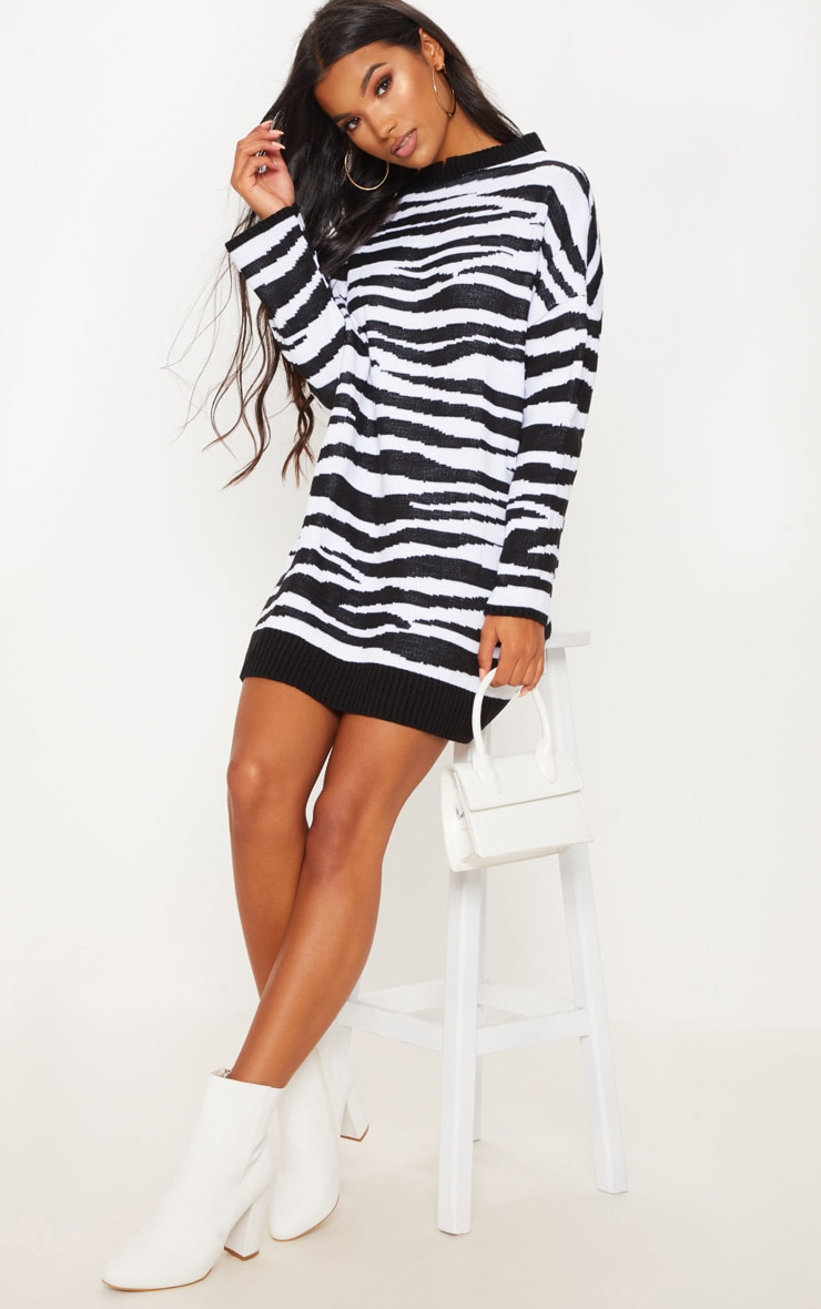 Zebra Print Jumper Dress  1