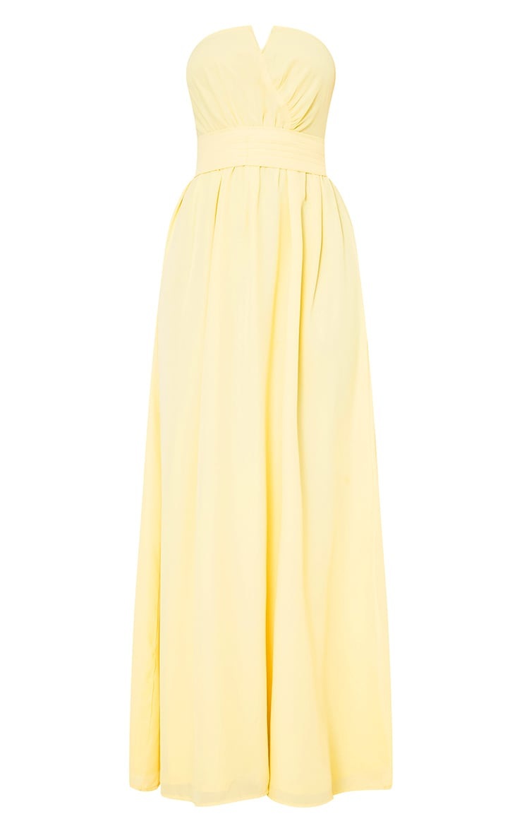 Lainey Lemon Bandeau Maxi Dress  3