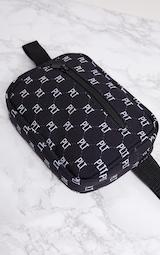 PRETTYLITTLETHING Black Logo Bum Bag 6