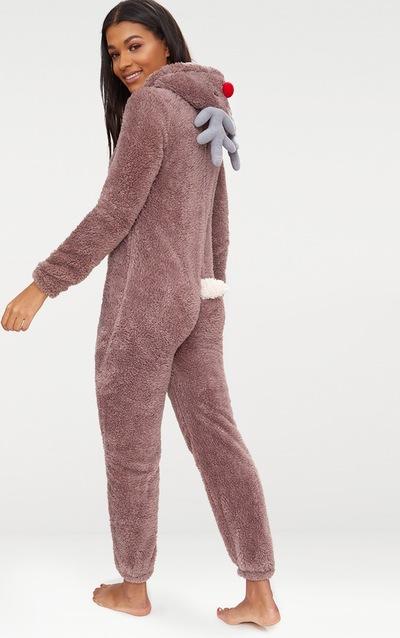 Brown Reindeer Onesie