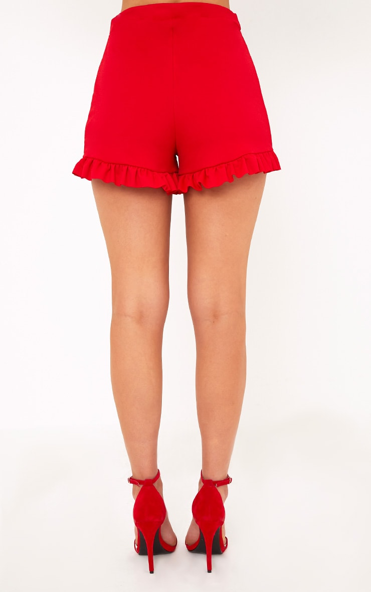 Red Frill Shorts  4