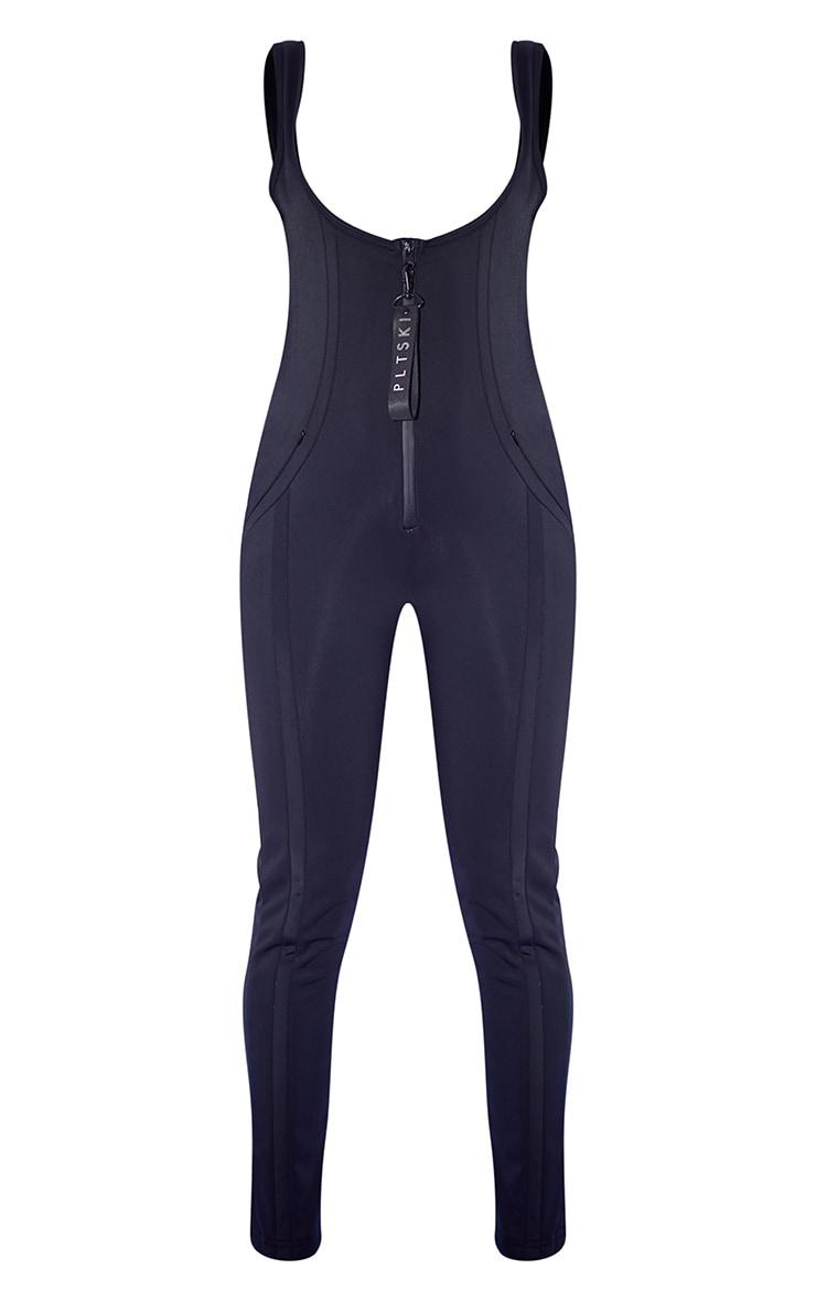 PRETTYLITTLETHING Ski Black Scoop Neck Ski Suit 5