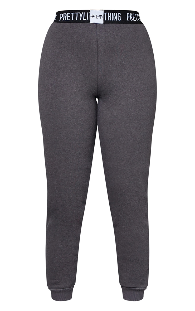 PRETTYLITTLETHING Petite - Jogging gris anthracite lounge 5