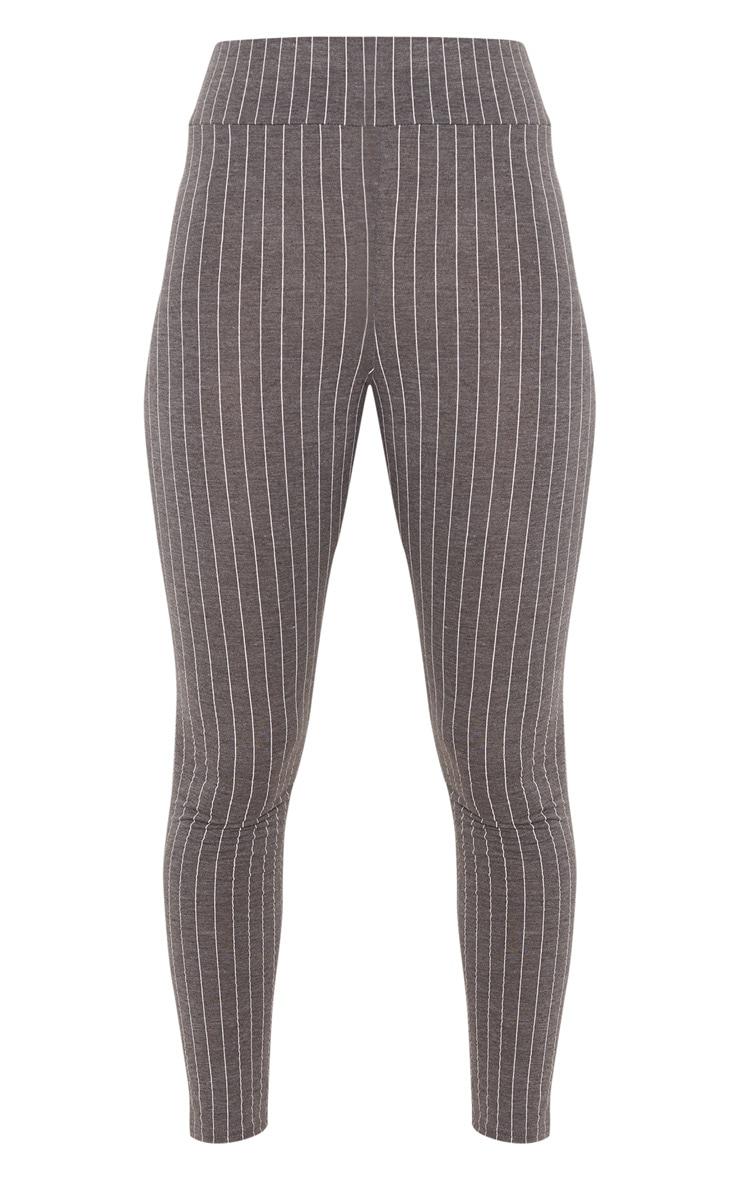 Grey Pinstripe High Waisted Legging  3