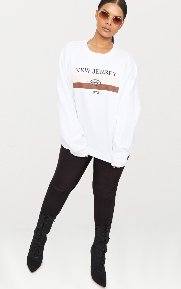Plus White New Jersey Sweater 4
