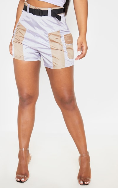 Stone Shell Pocket Detail Belted Short