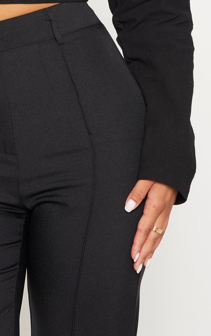 Petite Black High Waist Straight Leg Pants  5