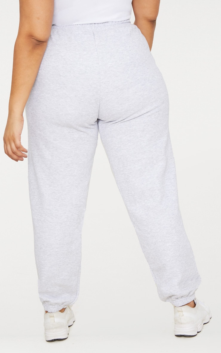 Plus Ash Grey Casual Track Pants 4