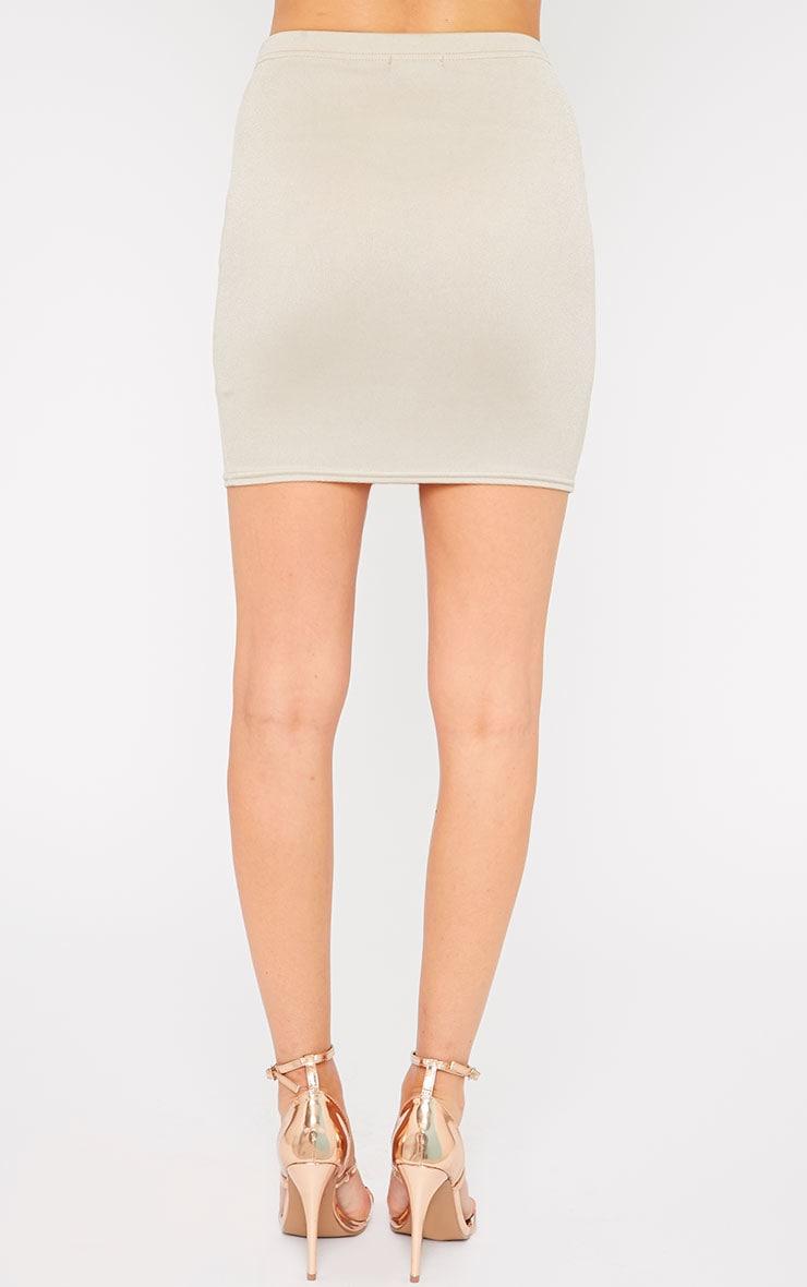 Emilia Stone Crepe Mini Skirt 4