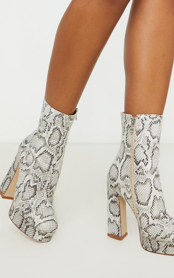Snake Platform Ankle Boot 1