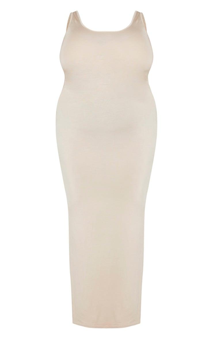 Plus Stone Basic Maxi Dress 5