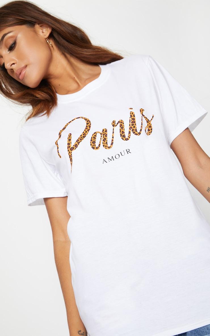 White Paris Slogan T Shirt 5