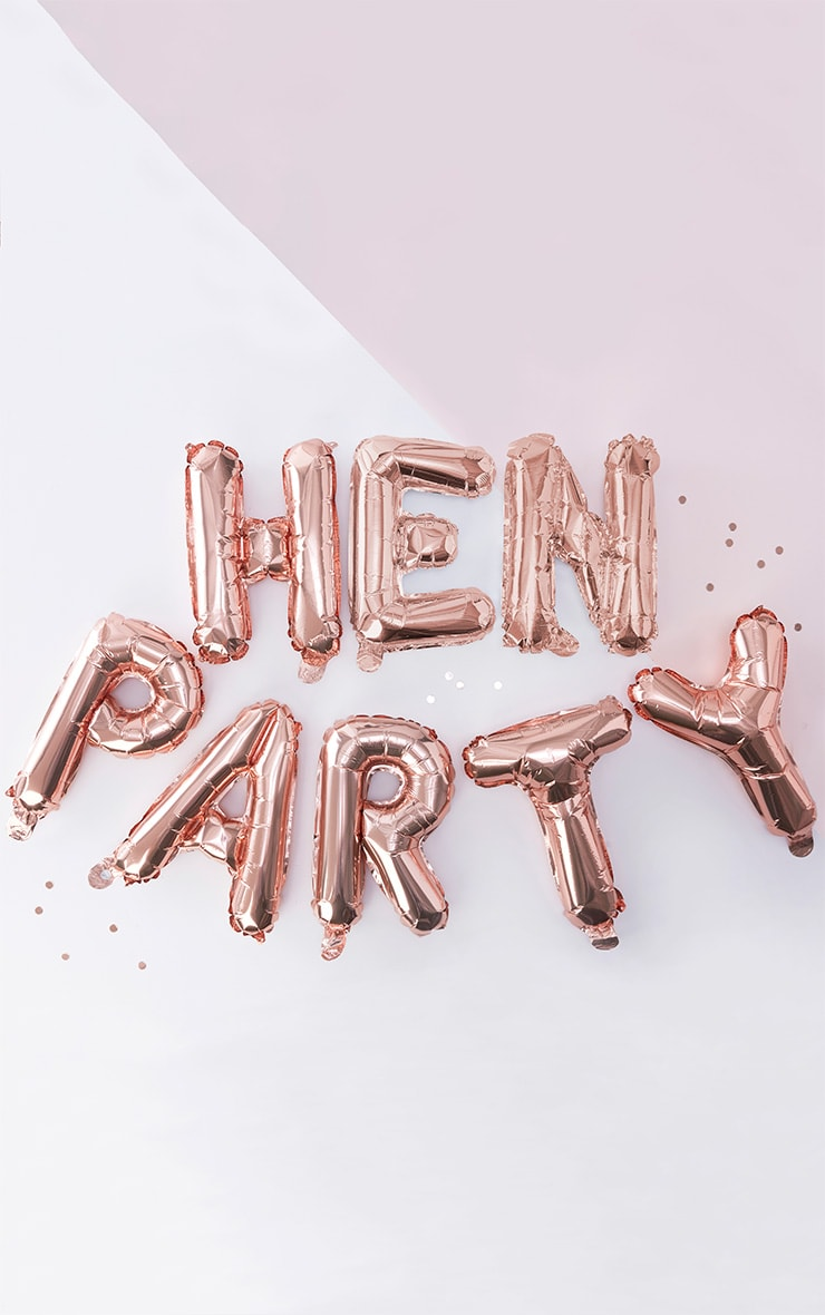 Ginger Ray Rose Gold Hen Party Balloon Bunting 2