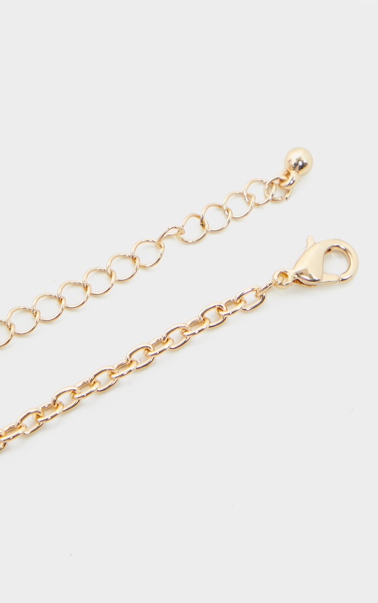 Gold Pave Pin Charm Necklace 3