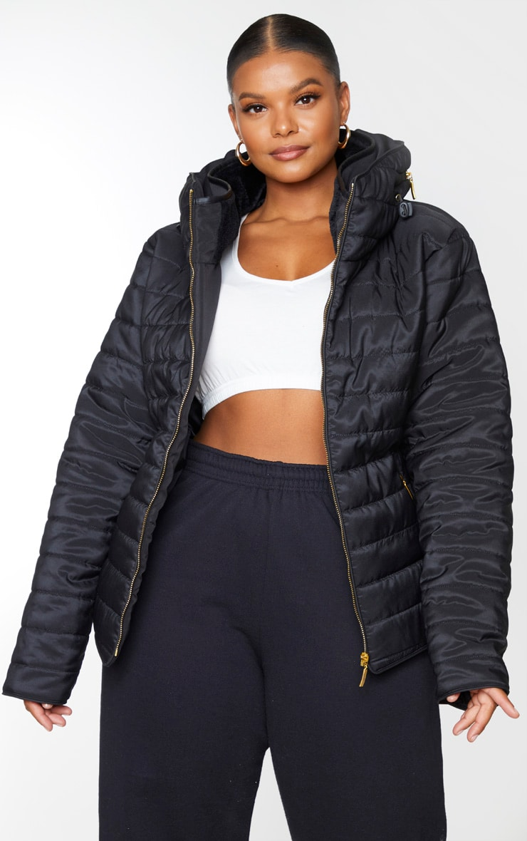 Plus Mara Black Puffer Jacket 1