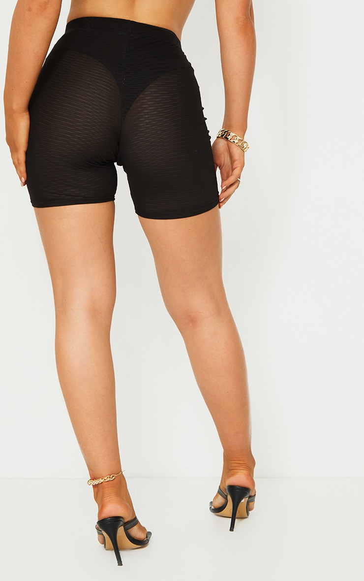 Black Mesh Layer Cycle Shorts 3