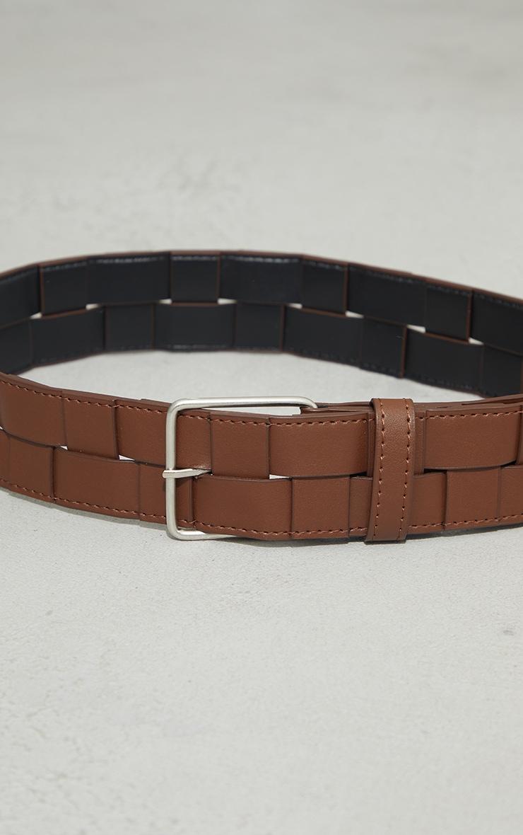 Chocolate Woven Chunky Waist Belt 2