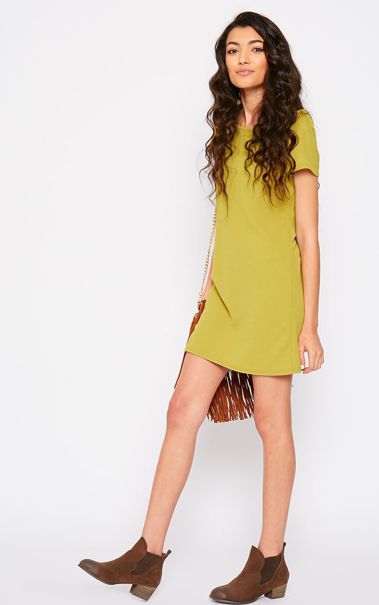 Camila Olive Loose Fit Shift Dress 3