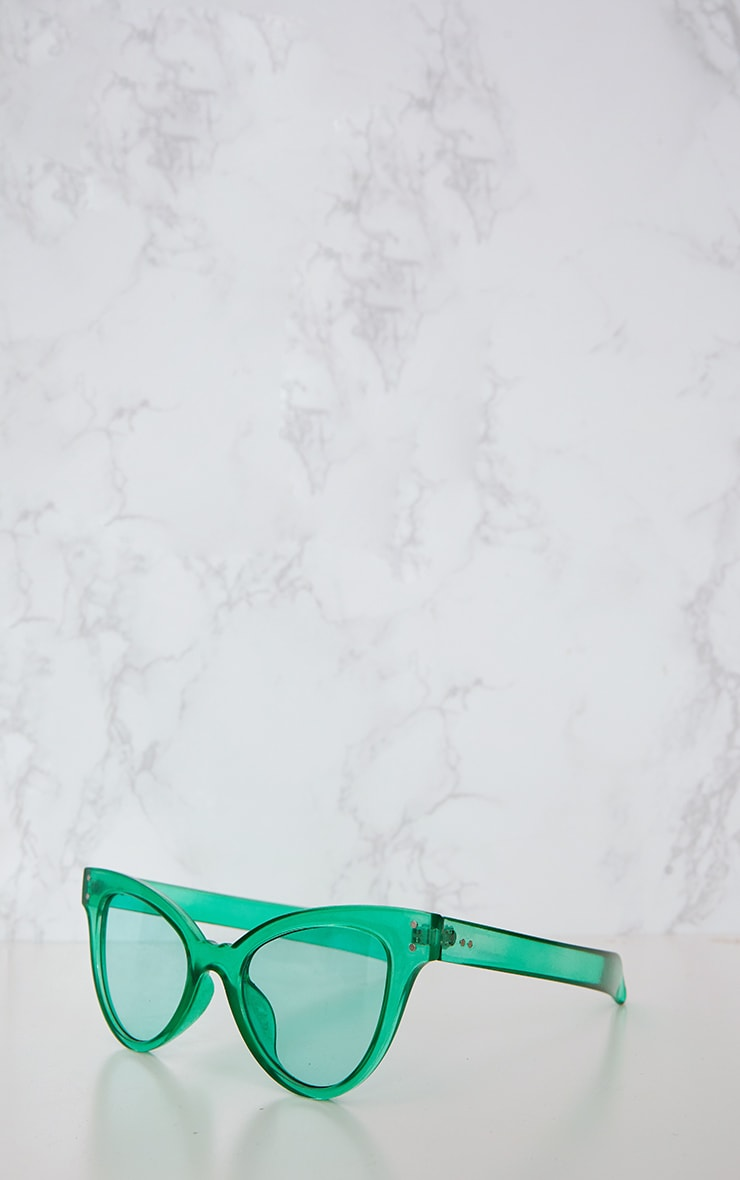 Green Acrylic Cat Eye Sunglasses 4