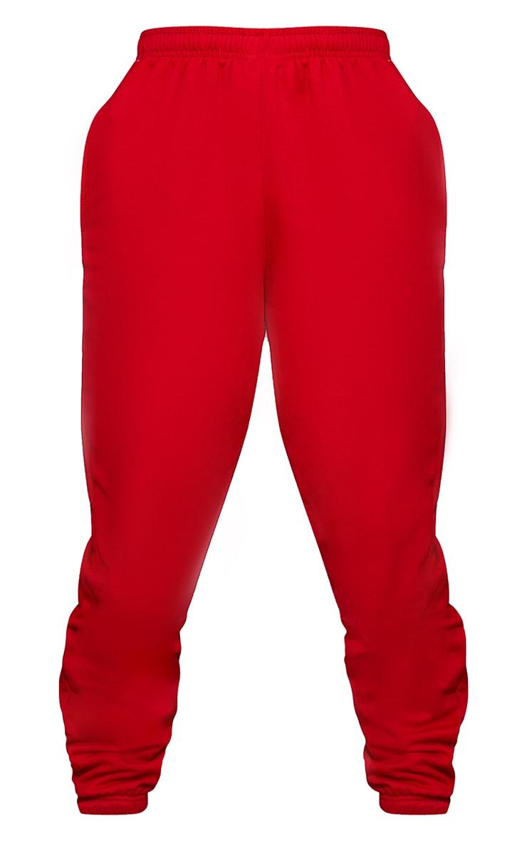 Jogging sweat rouge vif 5
