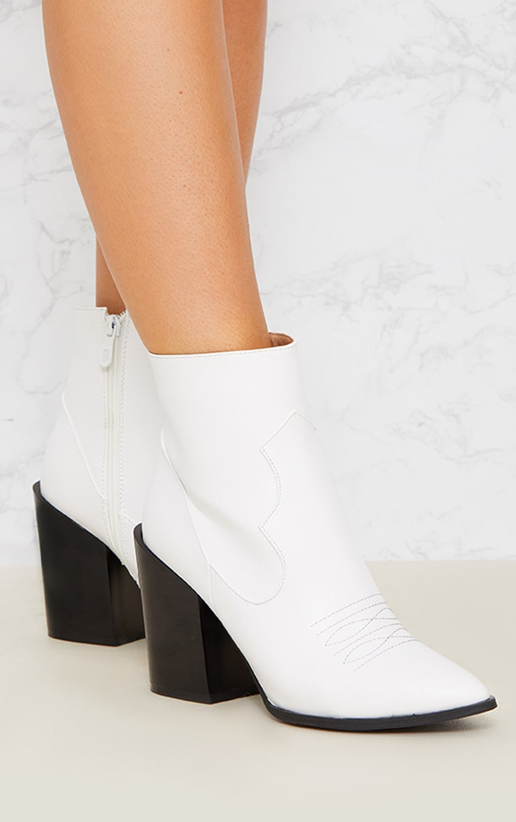 White Western Boot 6