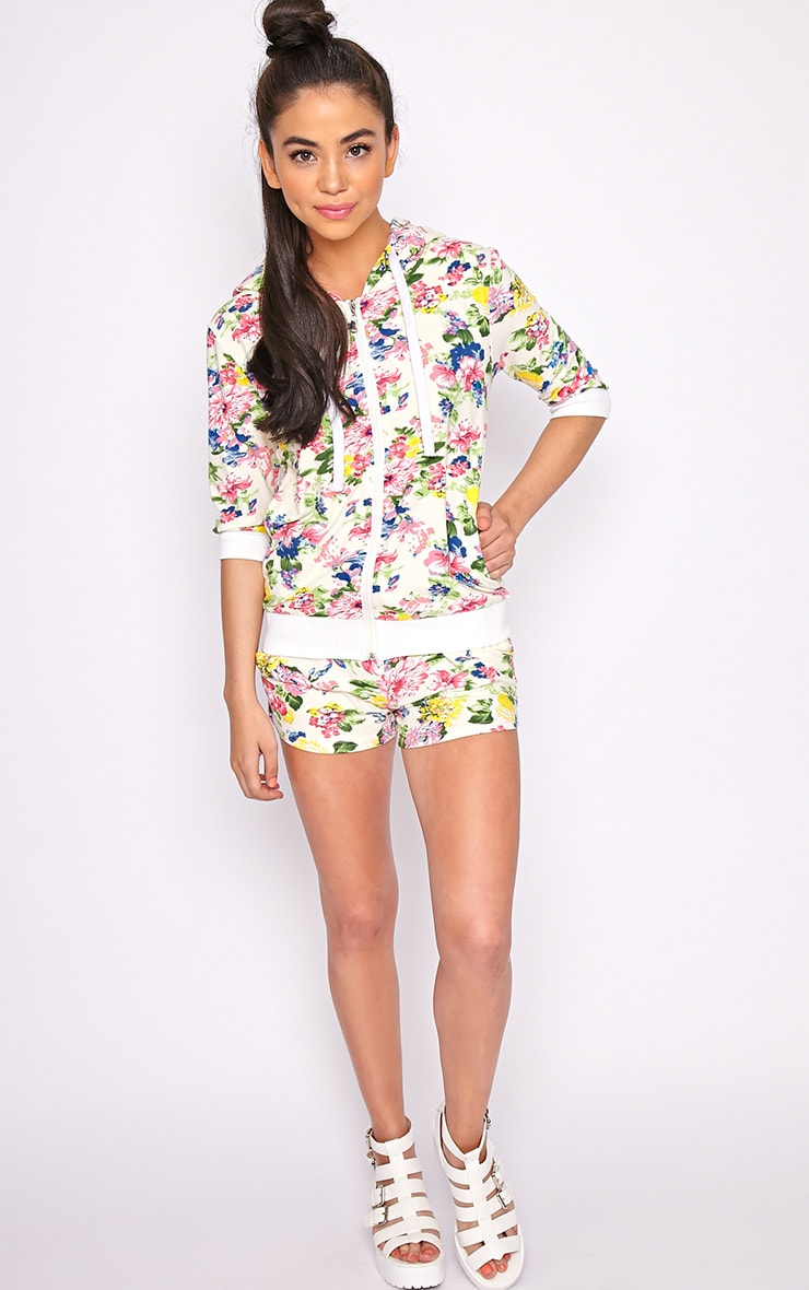 Hollie Cream Floral Short  1