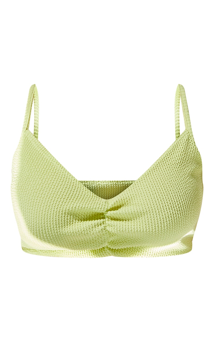 Plus Lime Ruched Front Bikini Top 5