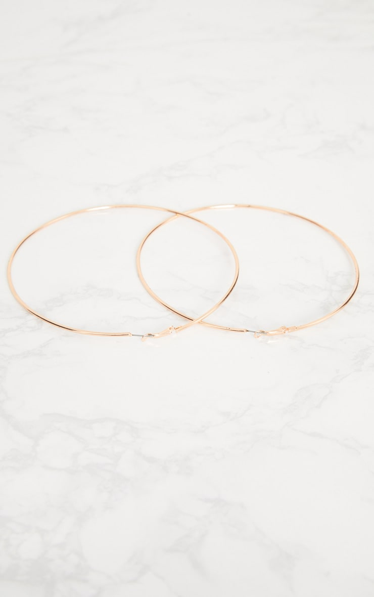 Rose Gold 120mm Large Hoop Earrings 4