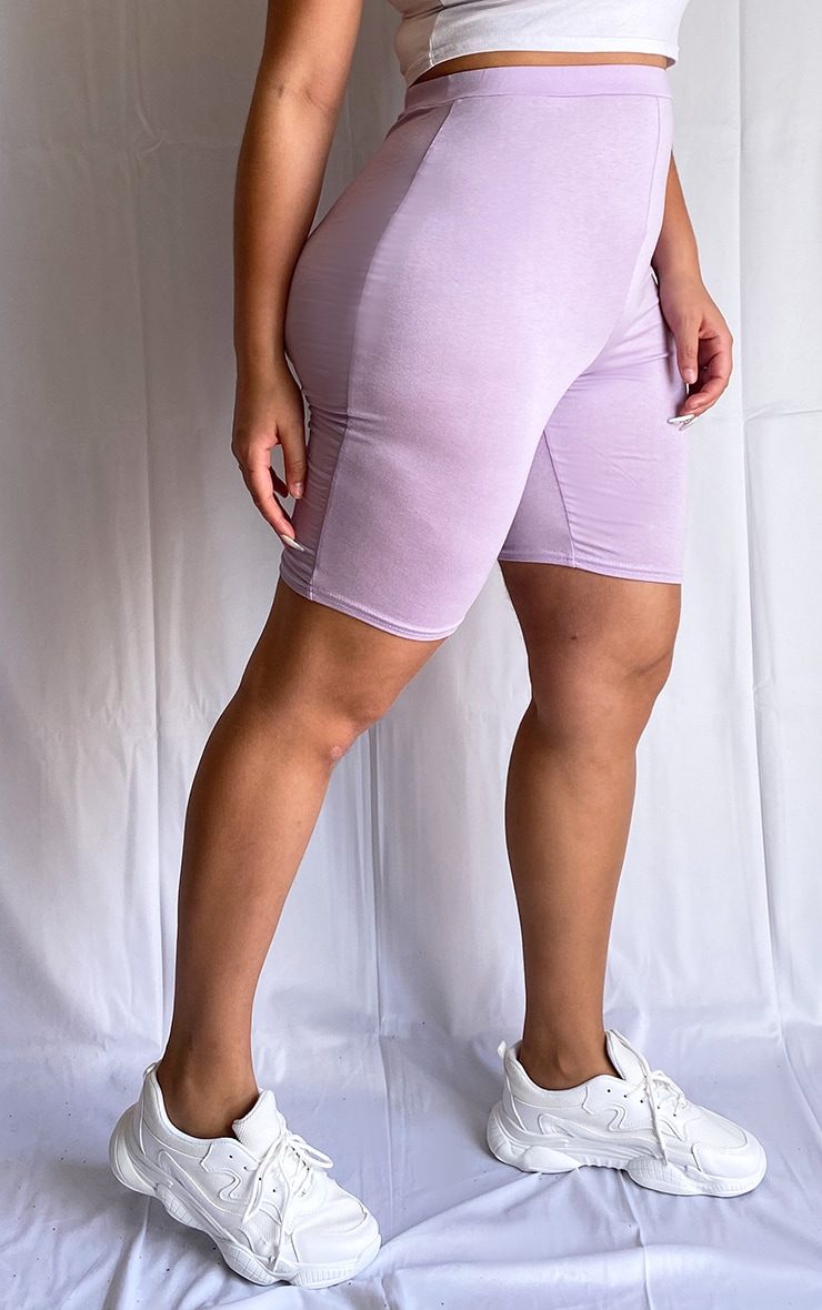 Plus Lilac Basic Bike Shorts 2