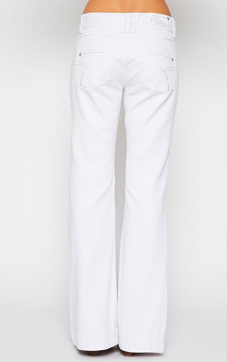 Tierna White Flared Jean 4