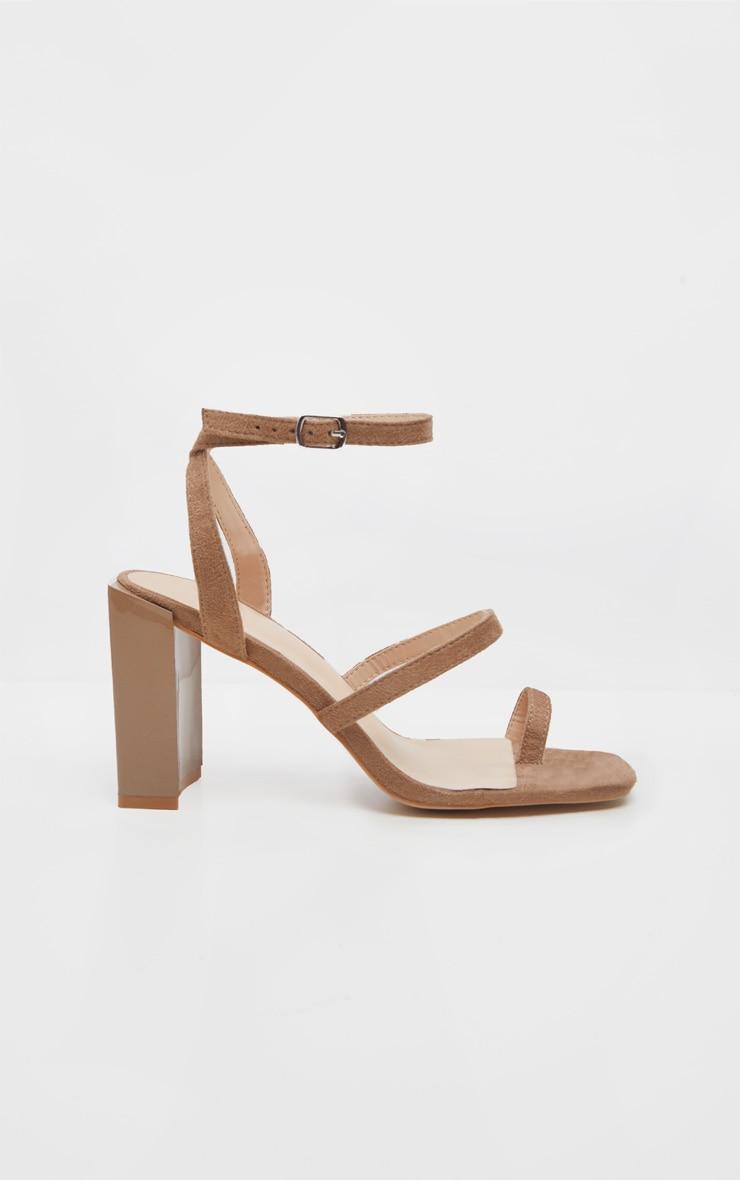 Sand Toe Loop Chunky Block Heel Sandal 2