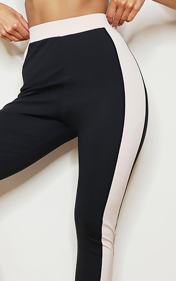 PRETTYLITTLETHING Black Sport High Waist Cropped Gym Leggings 4