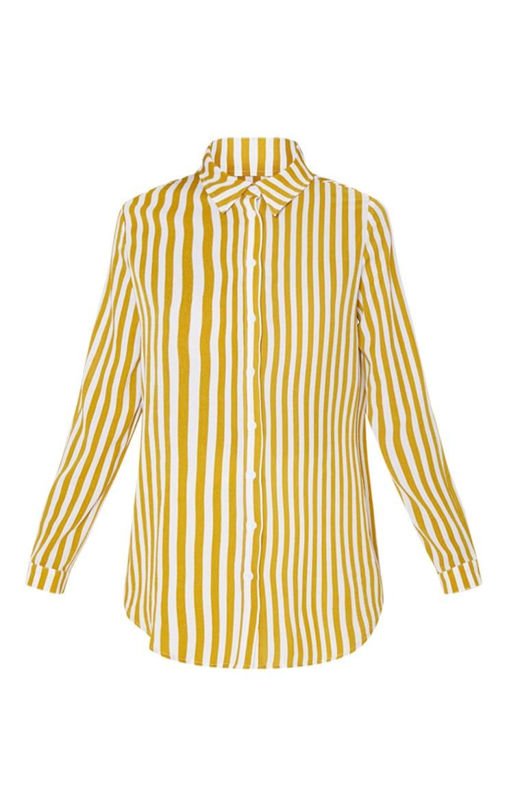 Mustard Stripe Oversized Shirt 3
