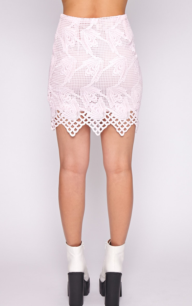 Carla Pink Lace Skirt 3