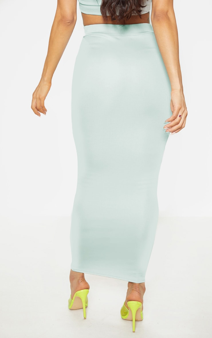 Light Grey High Stretch Maxi Skirt 4