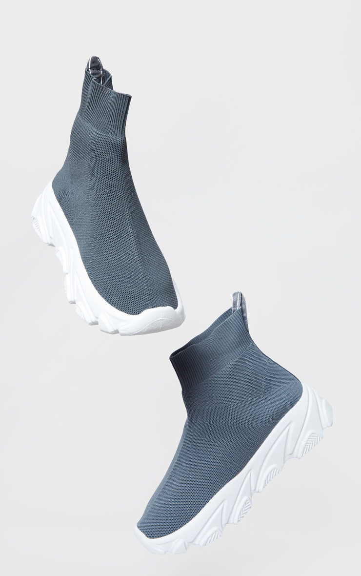 Grey Sock Chunky Sneakers 2