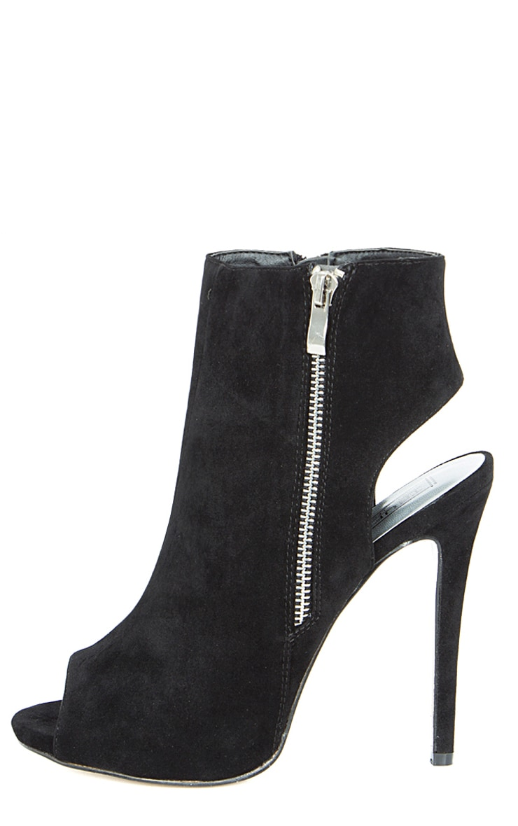 Lola Blacks Peep Toe Cut Out Ankle Boot  1